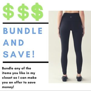 Bundle items for lower prices!